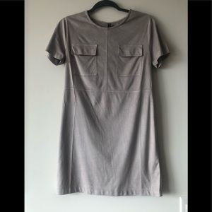 Influence Faux Suede Grey Dress